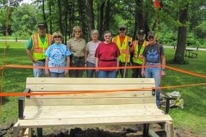Park Bench Installation